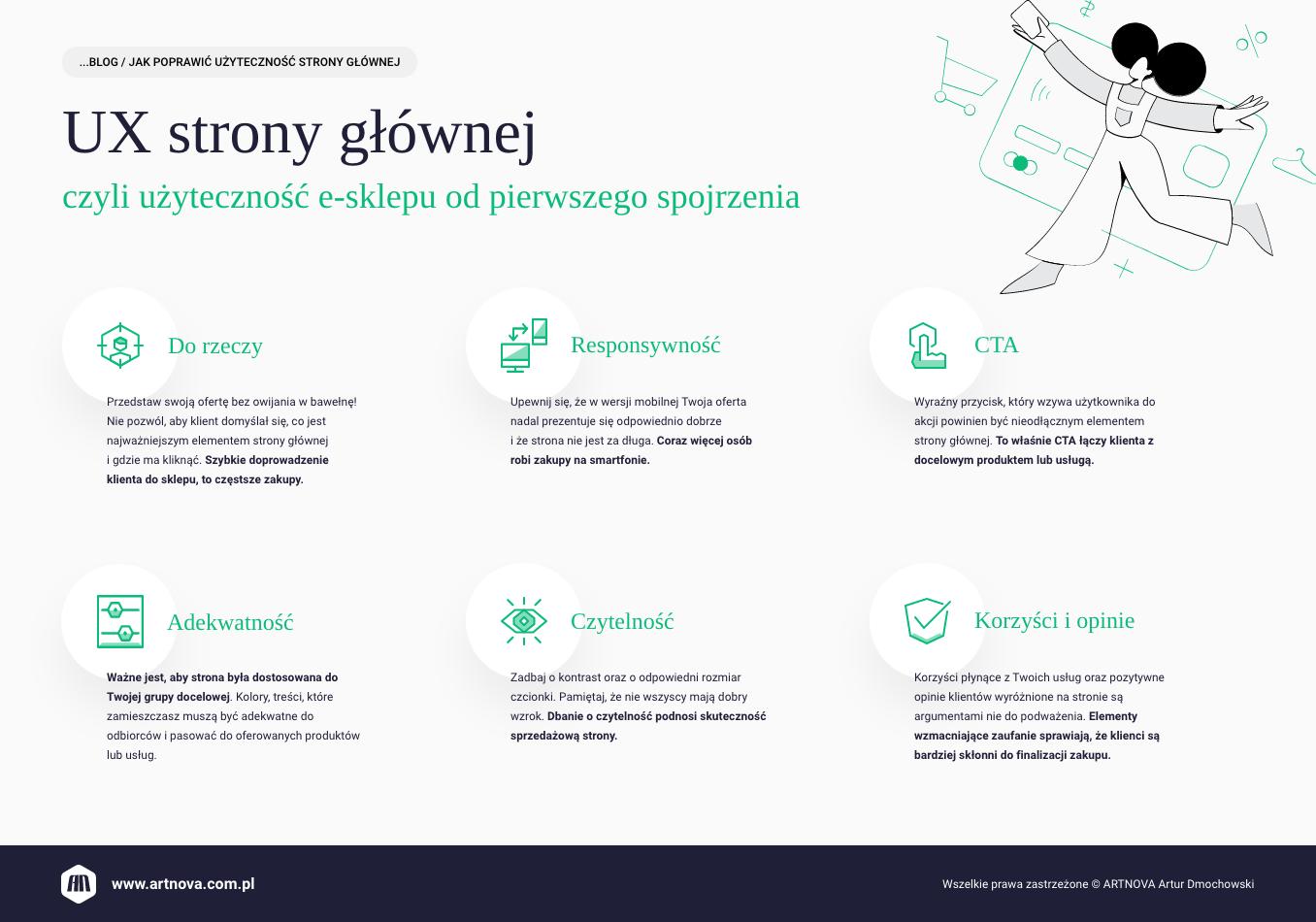 infografika: jak poprawić użyteczność strony głównej