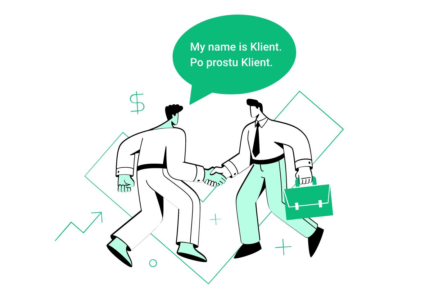 ilustracja: przekształcanie potencjalnego klienta w klienta